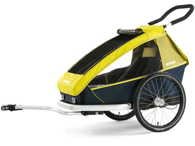 Croozer Kid For 1 Cykelanhænger gul/blå (2019) | bike_trailers_component